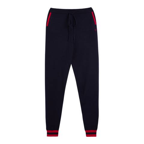 Chinti and Parker Navy/Cherry Cherry Track Trousers