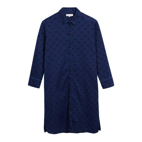 Chinti and Parker Denim Indigo Star Shirt Dress