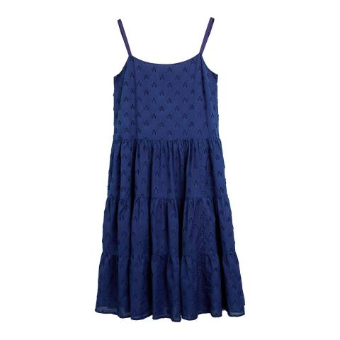 Chinti and Parker Denim Indigo Star Sun Dress