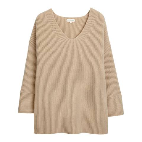 Chinti and Parker Fawn Ribbed Full Sleeve Jumper