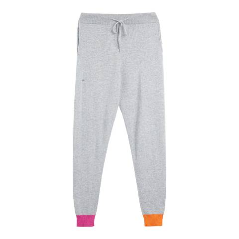 Chinti and Parker Grey/Multi Cashmere Blend  Flash Stripe Track Trousers