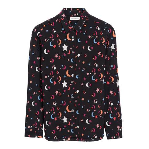 Chinti and Parker Black Midnight Print Classic Shirt
