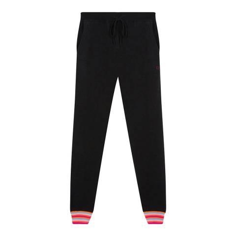 Chinti and Parker Black/Multi Stripe Cuff Track Trousers