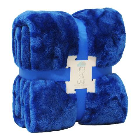 Paoletti Little Big Cloud Plush Throw, Blue