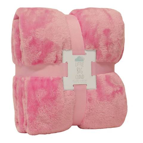 Paoletti Little Big Cloud Plush Throw, Pink