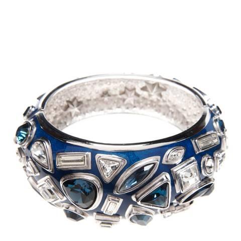 Simon Harrison Blue Galaxy Crystal And Enamel Bangle