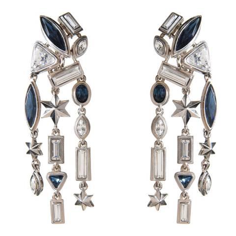 Simon Harrison Blue/Silver Galaxy Crystal Drop Earrings