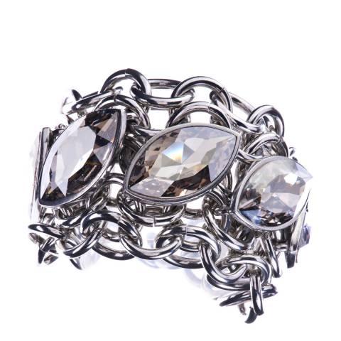 Simon Harrison Silver Shade Aquitaine Crystal Navette Bracelet