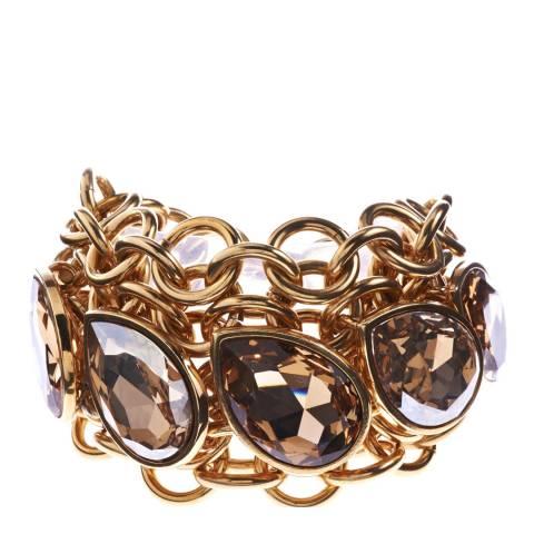 Simon Harrison Golden Shadow Aquitaine Crystal Navette Bracelet