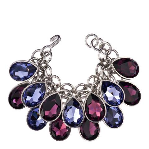 Simon Harrison Blue/Purple Aquitaine Crystal Pear Drop Bracelet