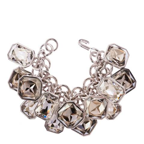 Simon Harrison Silver Shade Aquitaine Crystal Octant Drop Bracelet