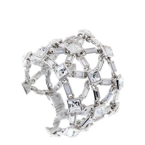 Simon Harrison Silver Crystal Claudette Crystal Bracelet