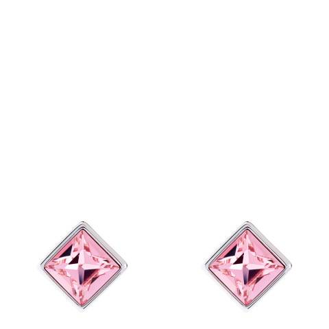 Simon Harrison Pink Claudette Square Crystal Stud Earrings