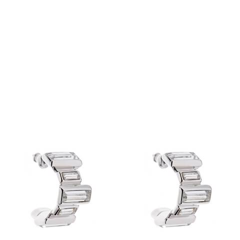Simon Harrison Crystal Panther Crystal Baguette Hoop Earrings