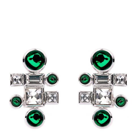 Simon Harrison Ella Glass Cabochon And Crystal Stud Earring