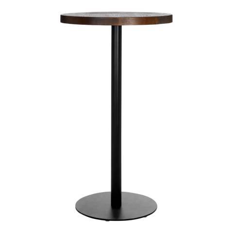 Premier Housewares Dalston Table with Frost Black Leg