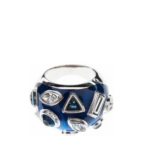 Simon Harrison Blue/Silver Galaxy Crystal And Enamel Ring
