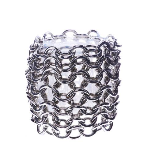 Simon Harrison Silver Plain Metal Orleans Chain Mail Bracelet
