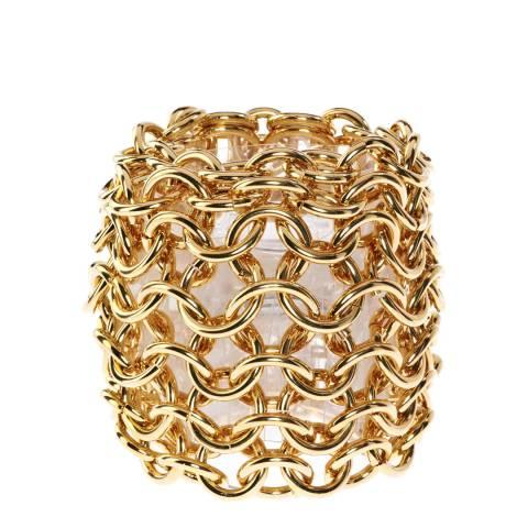 Simon Harrison Gold Plain Metal Orleans Chain Mail Bracelet