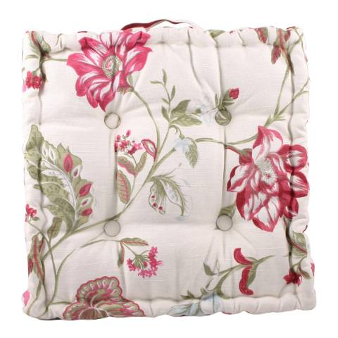 Paoletti Floral Ascot Box Cushion 43x43cm