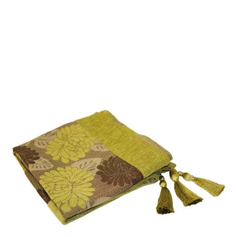 Paoletti Olive Caprice Throw 145x180cm