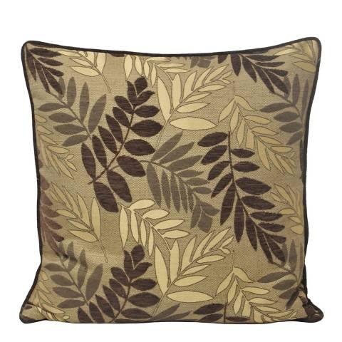 Paoletti Mocha Fern Feather Cushion 55x55cm