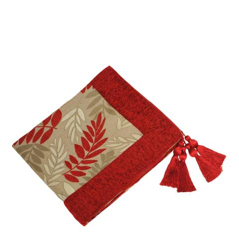 Paoletti Red Fern Throw 145x180cm