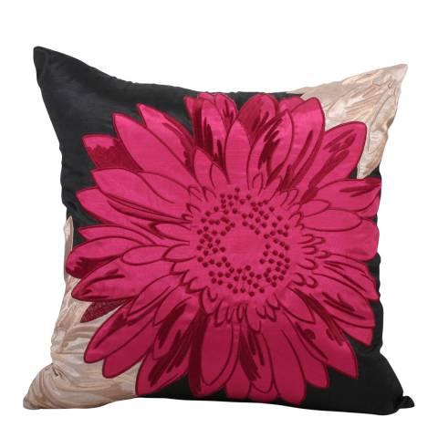 Paoletti Fuschia Hawaii Feather Cushion 50x50cm