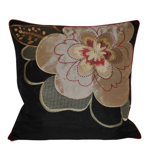 Paoletti Black Kyoto Feather Cushion 45x45cm