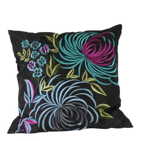 Paoletti Black Laguna Feather Cushion 45x45cm
