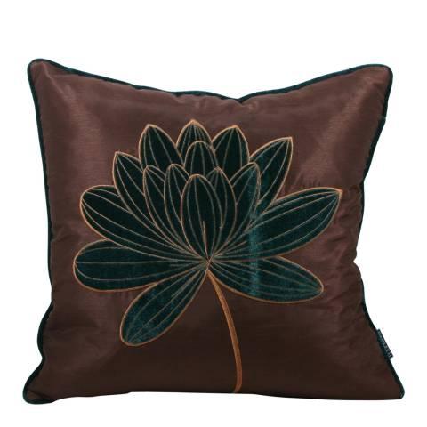 Paoletti Teal Mardi Gras Feather Cushion 45x45cm