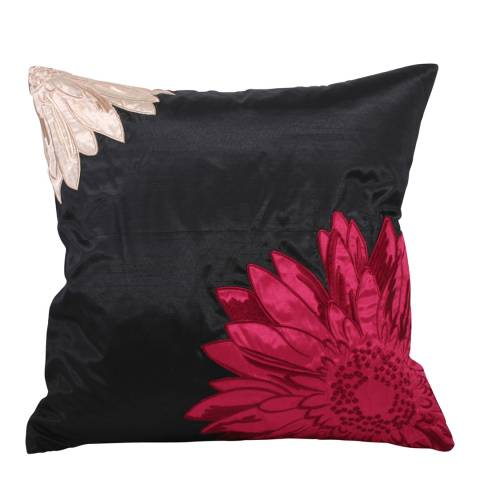 Paoletti Fuschia Maui Feather Cushion 50x50cm