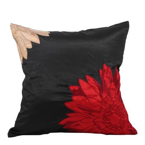 Paoletti Red Maui Feather Cushion 50x50cm