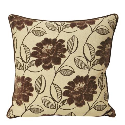 Paoletti Mocha Mayflower Feather Cushion 55x55cm