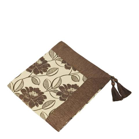 Paoletti Mocha Mayflower Throw 145x180cm