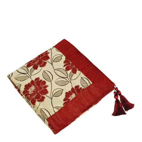Paoletti Red Mayflower Throw 145x180cm