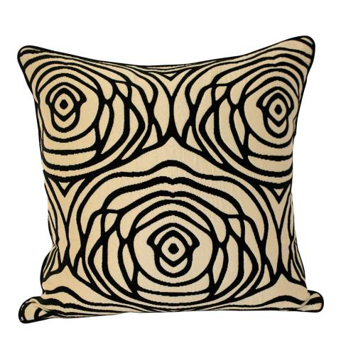 Paoletti Black/Ivory Opera Feather Cushion 55x55cm