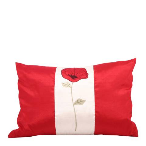 Paoletti Red Poppet Feather Cushion 35x50cm
