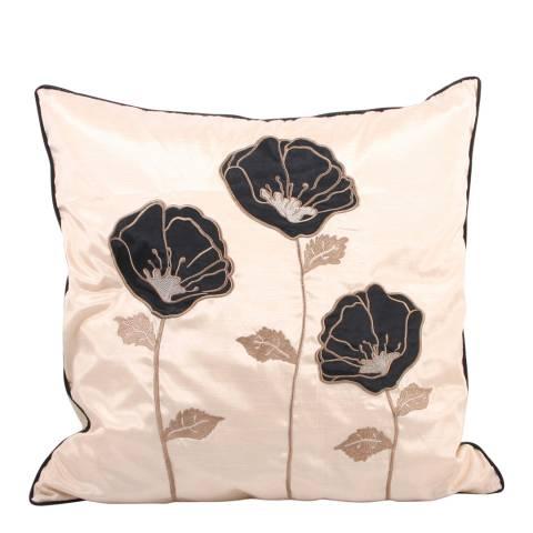 Paoletti Beige/Black Poppet Trio Feather Cushion 45x45cm