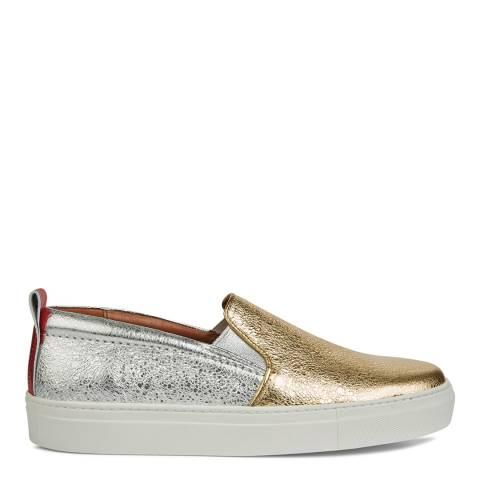 Hudson Women's Metallic Gold & Silver  Milla Sneaker