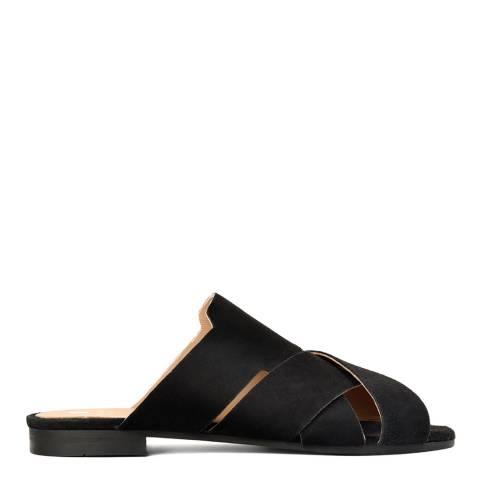 H by Hudson Women's Black Suede Lonatu Sandal