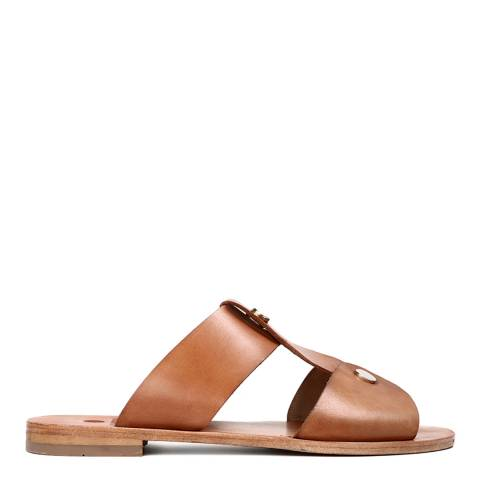 H by Hudson Women's Nude Leather Aponi Sandal
