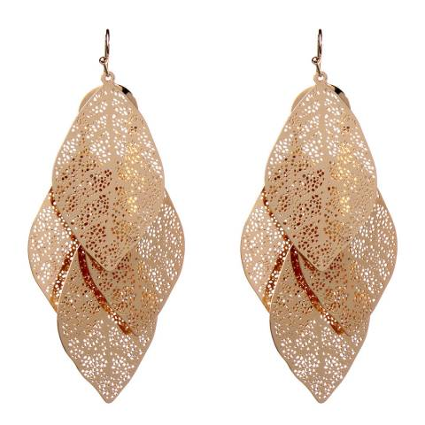 Amrita Singh Gold Filigree Leaf Earrings