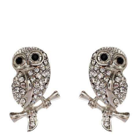 Amrita Singh Silver/Clear Crystal Earrings