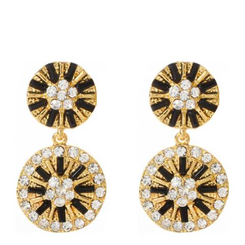 Amrita Singh Gold/Black Crystal Earrings
