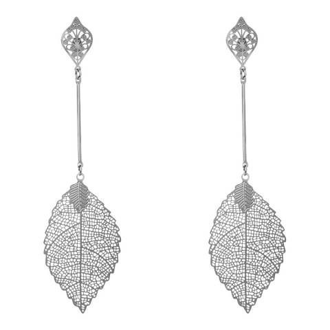 Amrita Singh Silver Leaf Earrings