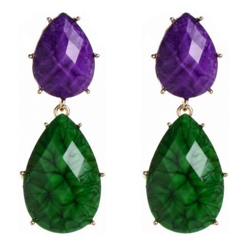 Amrita Singh Amethyst/Evergreen Drop Earrings