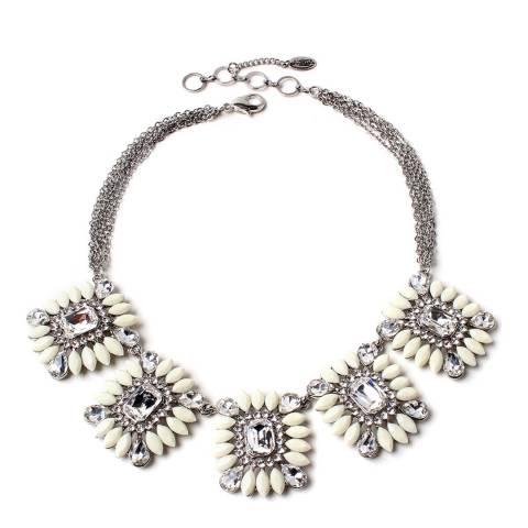 Amrita Singh Ivory/Silver Crystal Necklace