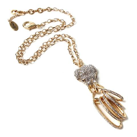 Amrita Singh Gold/Clear Elephant Pendant Necklace