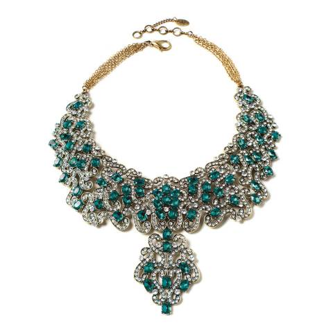 Amrita Singh Emerald Crystal Necklace